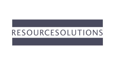 resourcesolutions banner in white lettering with seafoam background