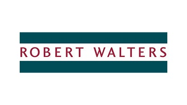 robert walters banner in white lettering with green background