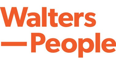 walters people banner in white lettering with orange background
